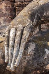 Ancient Buddha Hand Statue at Sukhothai Park.