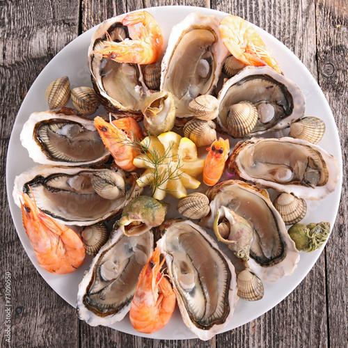 Fotobehang Schaaldieren seafood platter