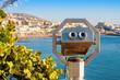 Tourist binoculars. Tenerife, Spain