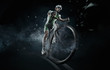 Sport. Isolated athlete cyclists - 73090944