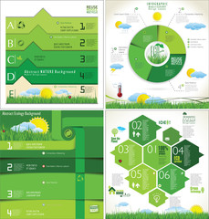 Modern ecology Design Layout, collection