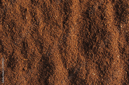 Foto Murales coffee ground texture