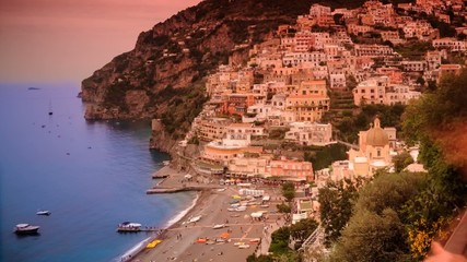 Positano Timelapse of the town