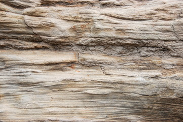 Weathered sandstone cliff closeup