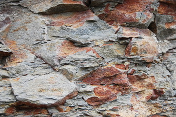 Rocky cliff closeup
