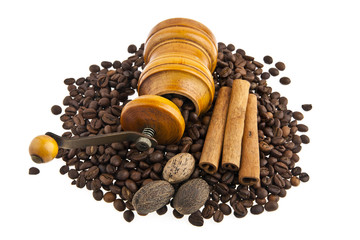 coffee-grinders, coffee and condiments