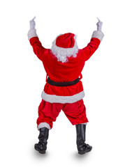 Santa Claus with upraise middlefingers.