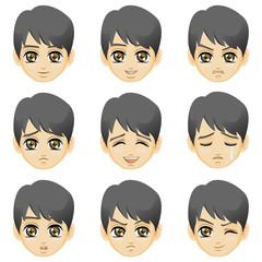 Facial expression of boy (Asian Descent)