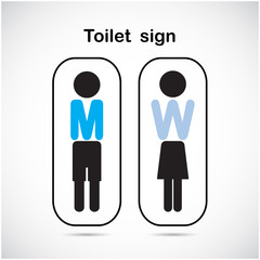 Man and woman toilet sign, restroom symbol .