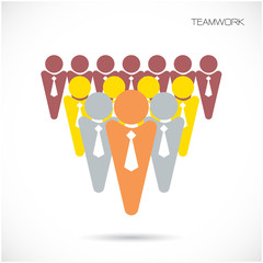 Team Partners Friends sign design vector template.