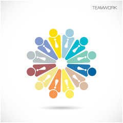 Team Partners Friends sign design vector template.Business Teamw