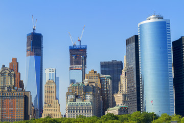 Views of New York City, USA, Freedom Tower and the World Trade C
