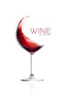Red Wine in Balloon Glass. Splash Design - 73093324