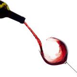 Wine. Glass and Bottle. Splash