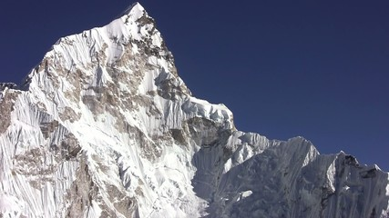 View of Nuptse Peak. Himalayas. Nepal.