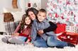 Lovely family portrait at Christmas