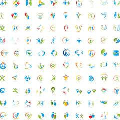Große Sammlung, Menschen, Logos, Zeichen
