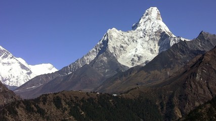 View of the Ama Dablam. Himalayas. Nepal.