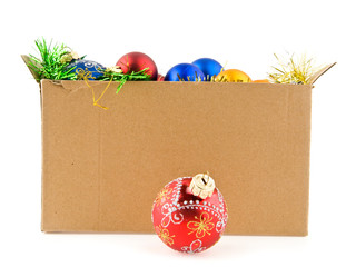christmas decorations in the box