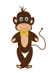 Cheerful monkey
