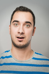 portrait of surprised man