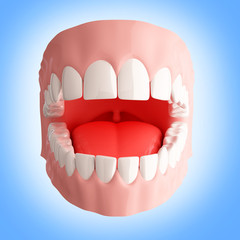 Human teeth 3d illustration