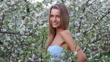 Pretty girl in flowers