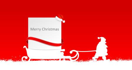 Weihnachten Schild Schlitten