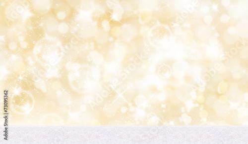 canvas print picture Weihnachtlicher Hintergrund mit Schnee