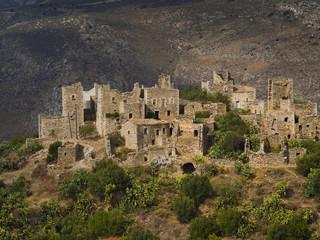 Vathia abandoned village, Peloponnese, Greece