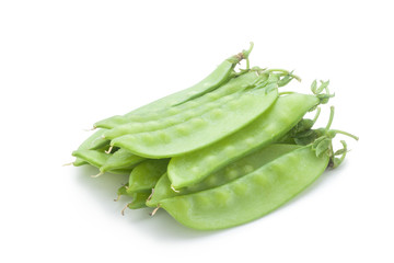 snow peas isolated on white