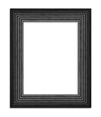 black wood frame isolated on white background