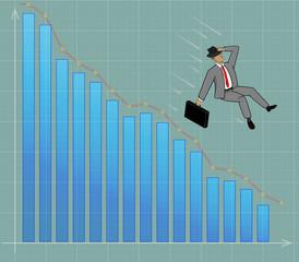 businessman of graph