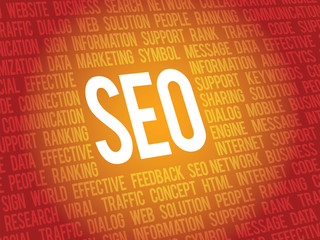 Vector SEO business background, search engine optimazion