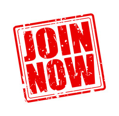 Join now red stamp text