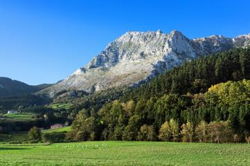 Atxondo valley with anboto mountain