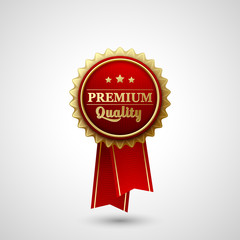 Vector Premium Quality Badge Label
