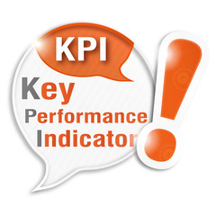 speech bubble collage acronym : KPI