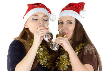 Photo of drinking women with the glasses
