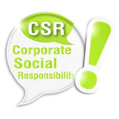 speech bubble collage acronym : CSR