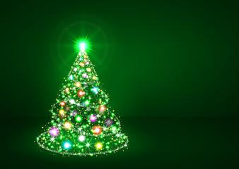 Weihnachtsbaum, Tannenbaum, Christbaum, grün, abstract, tree