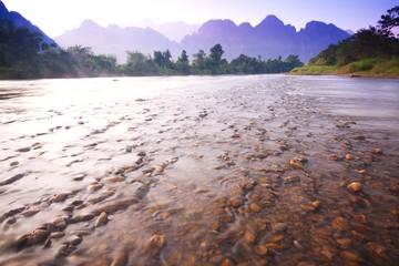 View of river in vangvieng 1