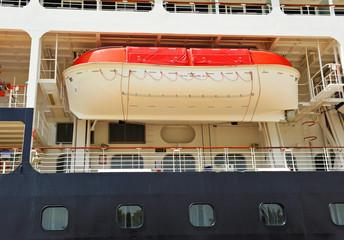 Barco de pasajeros, bote de salvamento