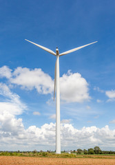 Thailand wind farm for producing renewable electric energy, gian