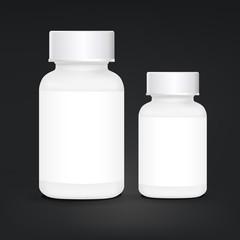 white plastic medical container set