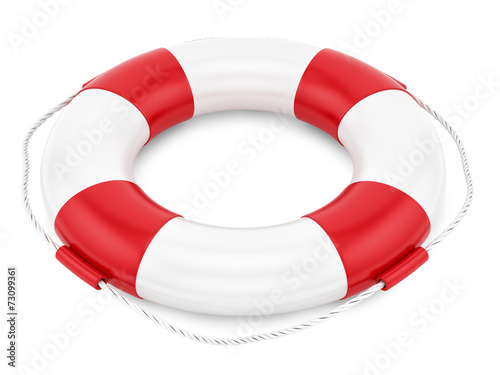 render of a lifebelt, isolated on white - 73099361