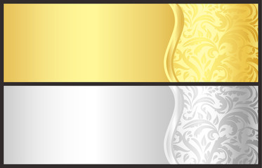 Gold and silver gift certificate