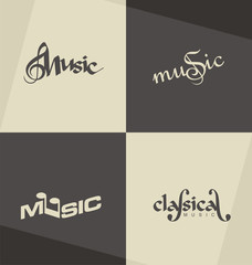 Unique and minimalistic classical music logo design