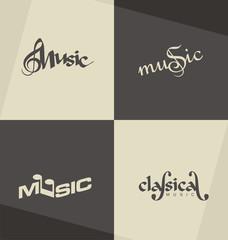 Unique and minimalistic classical music logo design