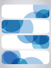 abstract blue round header set